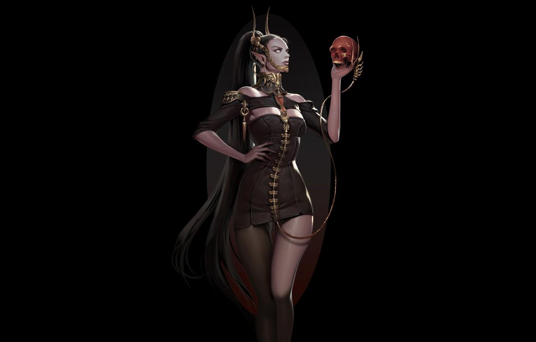 Photo wallpaper Girl, Fantasy, Beautiful, Sexy, Art, Style, Sake, Minimalism, Characters, Figure, Eunsil Song