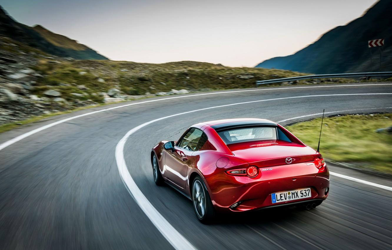 Photo wallpaper red, turn, Mazda, Targa, 2019, MX-5 RF