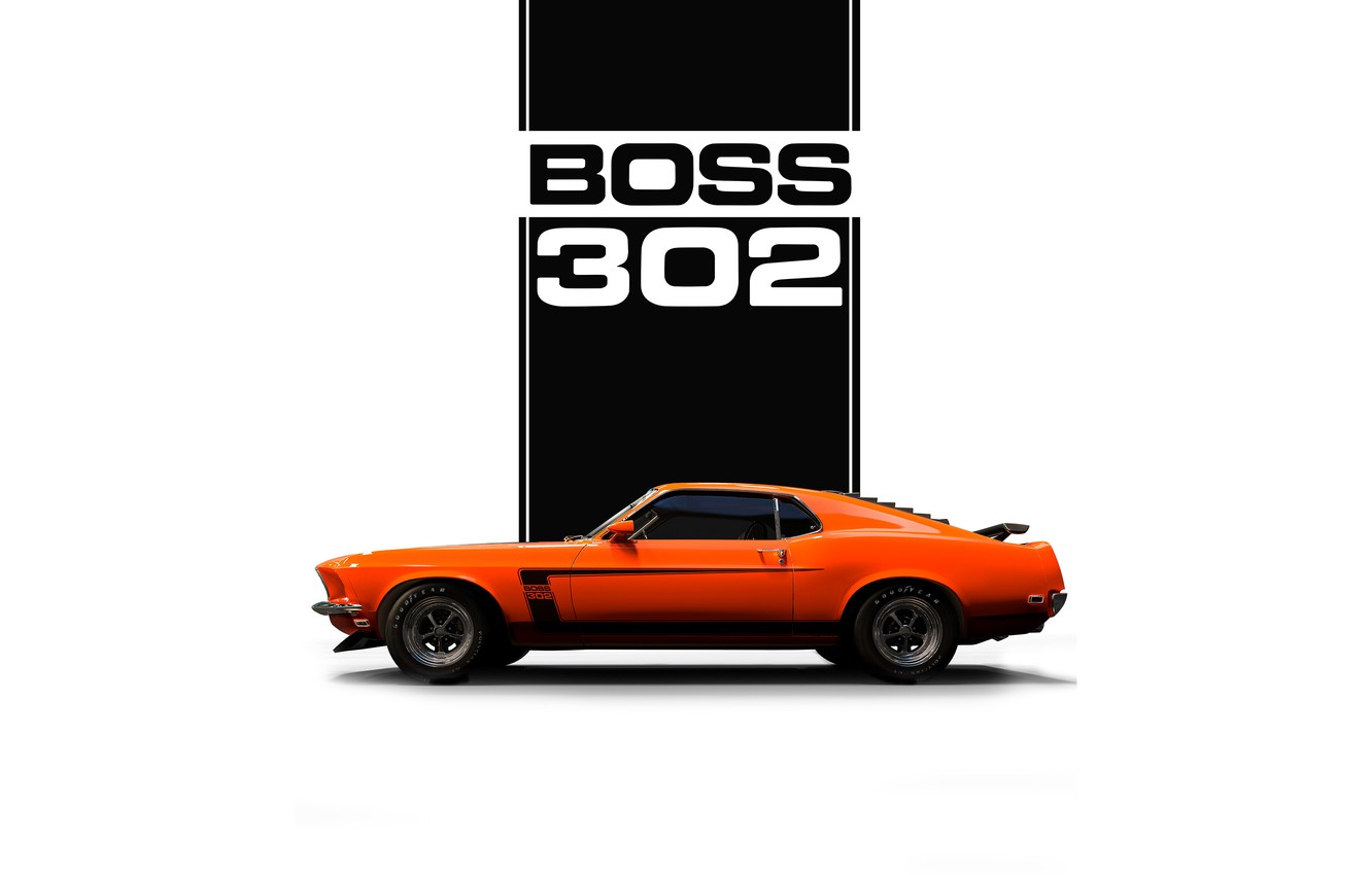 Wallpaper Mustang Auto Minimalism Machine Orange Car