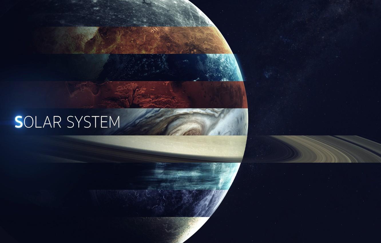 Photo wallpaper Saturn, Space, Earth, Planet, Mars, Jupiter, Neptune, Mercury, Venus, Planets, Saturn, Earth, Uranium, System, Mars, …