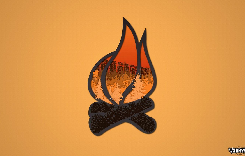 Photo wallpaper forest, the game, logo, the fire, symbol, bumps, Stalker, group, Survarium, tramps, survarium