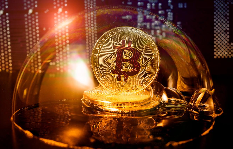 Photo wallpaper money, coin, bitcoin