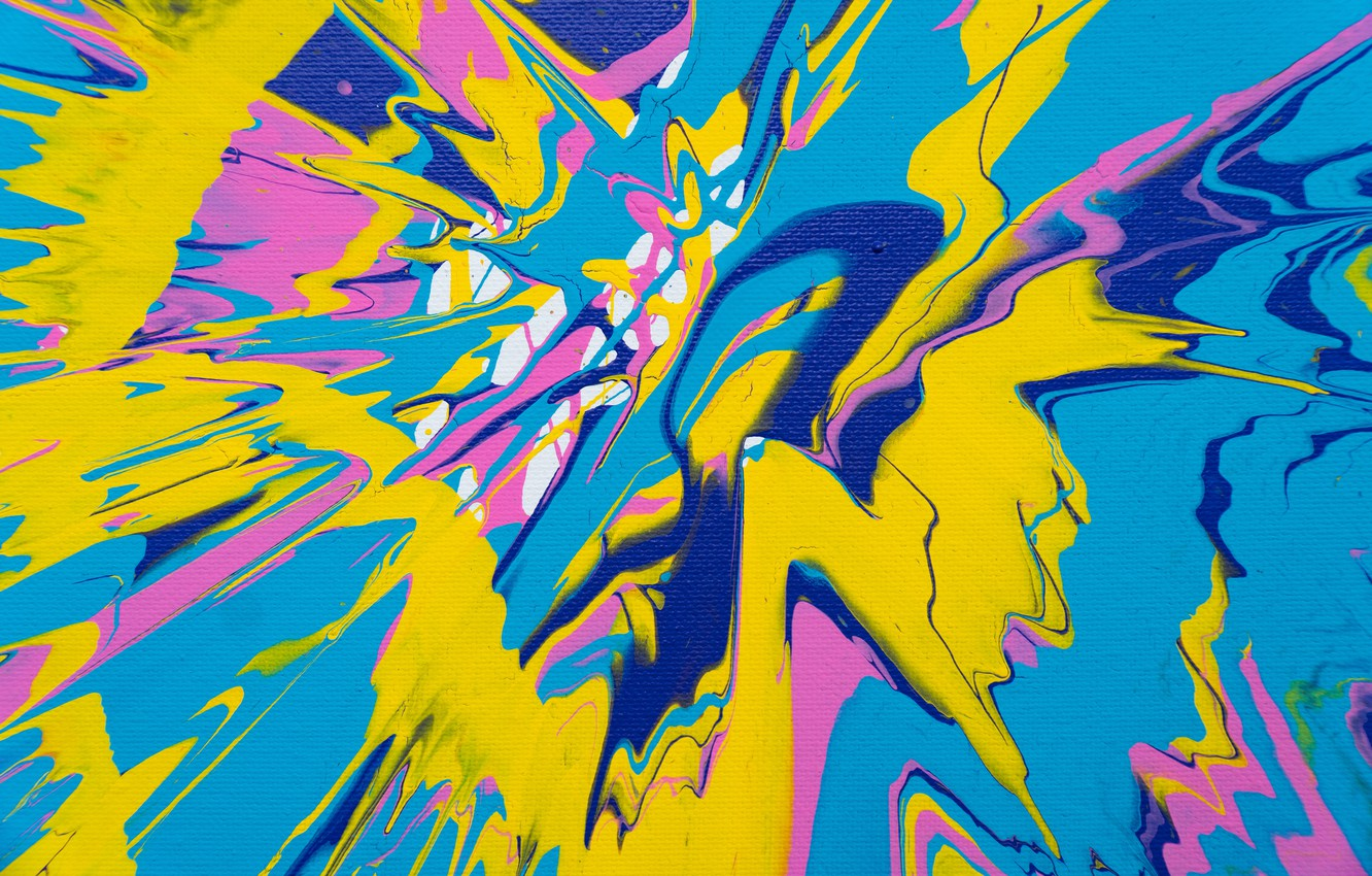 Photo wallpaper squirt, abstraction, paint, divorce, canvas