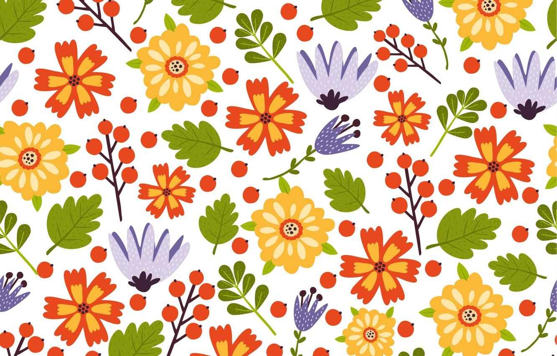 Photo wallpaper flowers, colorful, summer, flower, pattern