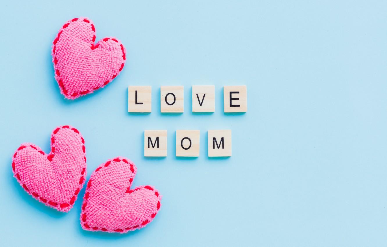 Photo wallpaper love, heart, love, pink, hearts, mom