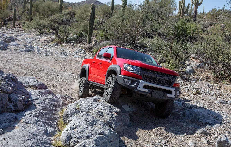 Photo wallpaper Chevrolet, Stones, Jeep, Pickup, Colorado, Crew Cab, Bison