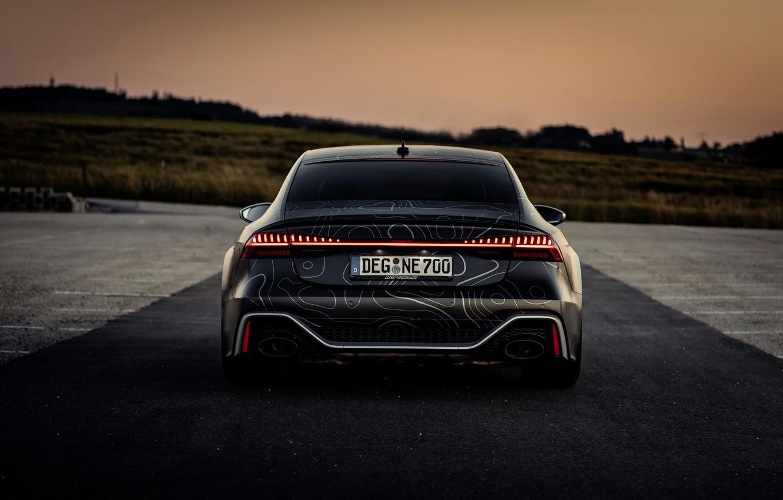Photo wallpaper Audi, black, feed, RS 7, 2020, V8 Biturbo, RS7 Sportback, 4.0 L., 962 л.с., HGP …