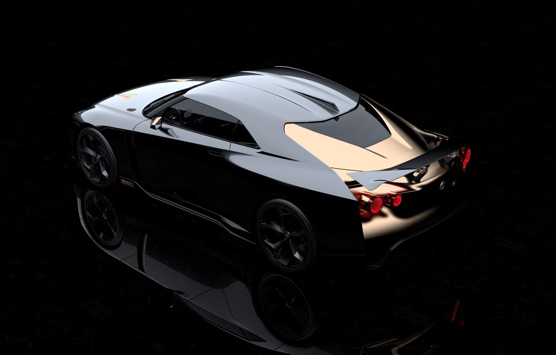 Photo wallpaper Concept, Nissan, rear view, 2018, ItalDesign, GT-R50
