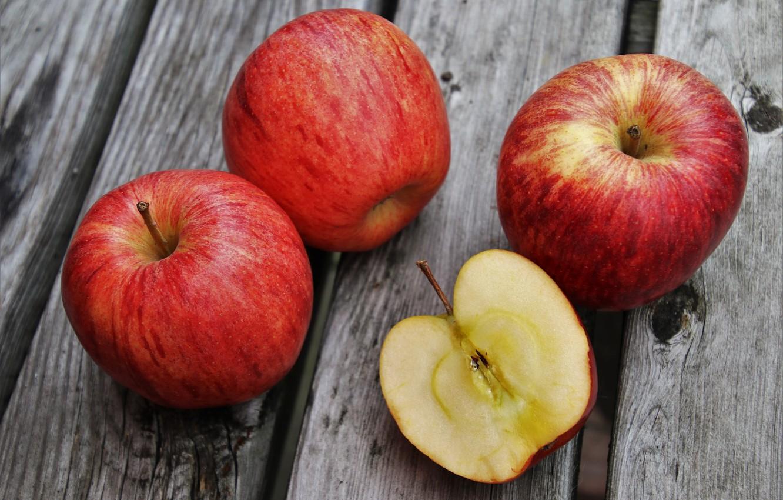 Photo wallpaper apples, fruit, vitamins