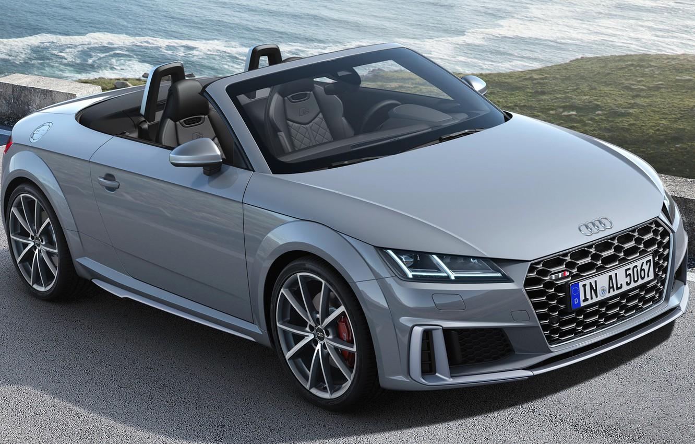 Photo wallpaper sea, Audi, Roadster, convertible, grey, Audi TT, Audi TTS, Audi TTS Roadster