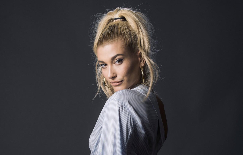 Photo wallpaper model, blonde, Hailey Baldwin