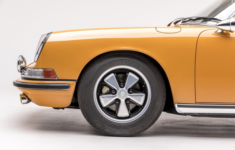 Photo wallpaper Porsche, Wheel, Classic, Porsche 911, 1968, Classic car, Targa, Porsche 911 S 2.0 Targa Sportomatic