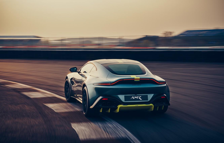 Photo wallpaper machine, Aston Martin, Vantage, sports car, racing track, AMR