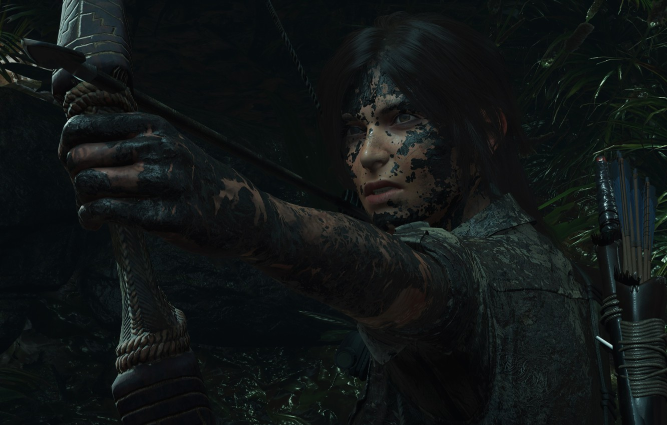 Wallpaper Video Game Arrow Looks Tomb Raider Bow Quiver Dirt