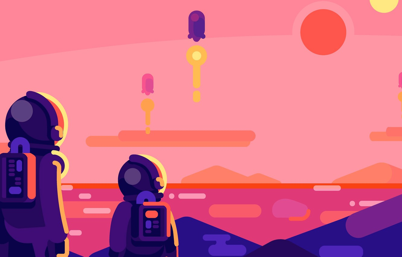 Photo wallpaper planet, astronaut, astronaut