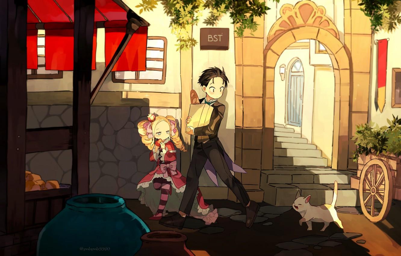 Photo wallpaper cat, Beatrice, Re: Zero Kara Hajime Chip Isek Or Seikatsu, Natsuki Subaru
