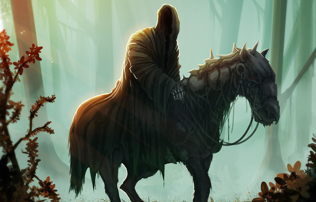 Photo wallpaper Figure, Forest, The Lord Of The Rings, Art, Art, Ghost, The Lord of the Rings, …