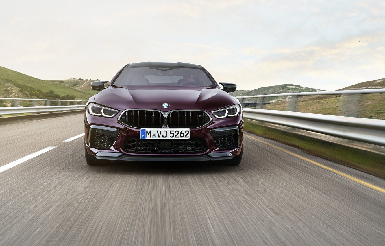 Photo wallpaper road, coupe, BMW, before, 2019, M8, the four-door, M8 Gran Coupe, M8 Competition Gran Coupe, …