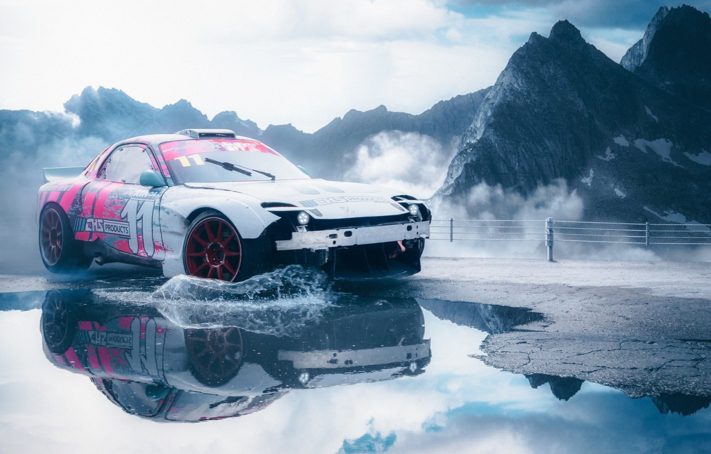 Photo wallpaper Mazda, Car, RX-7, Mazda RX-7, Vehicle