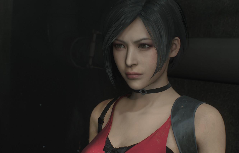 Photo wallpaper Girl, The game, Look, Lips, Girl, Hair, Eyes, Nose, Game, Ada Wong, Resident evil 2, …