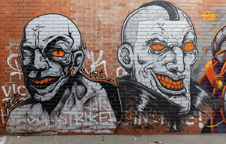 Photo wallpaper Graffiti, Melbourne, Australia, Richmond, Street Art, Mike Watt
