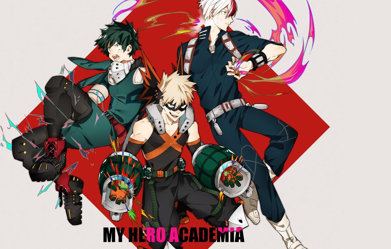Photo wallpaper guys, trio, My Hero Academia, Boku No Hero Academy, My Hero Academy