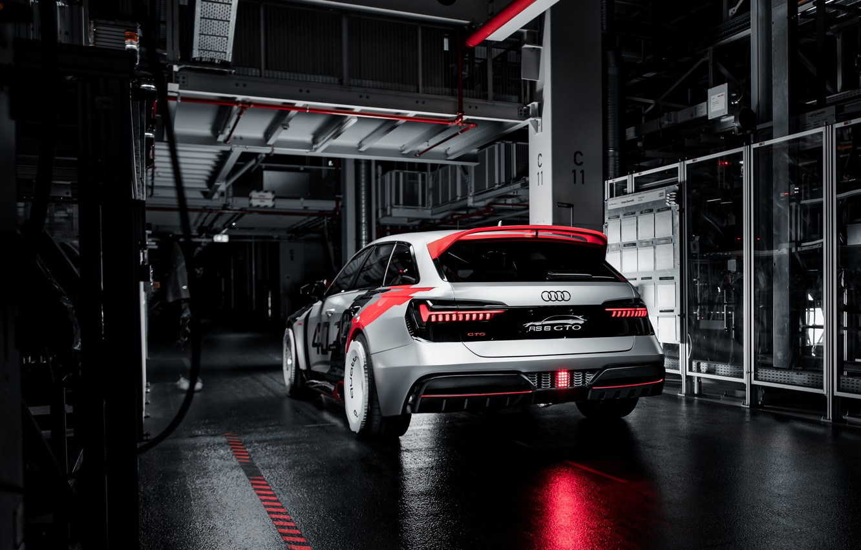 Photo wallpaper Audi, back, RS 6, 2020, RS6 Avant, RS6 GTO Concept