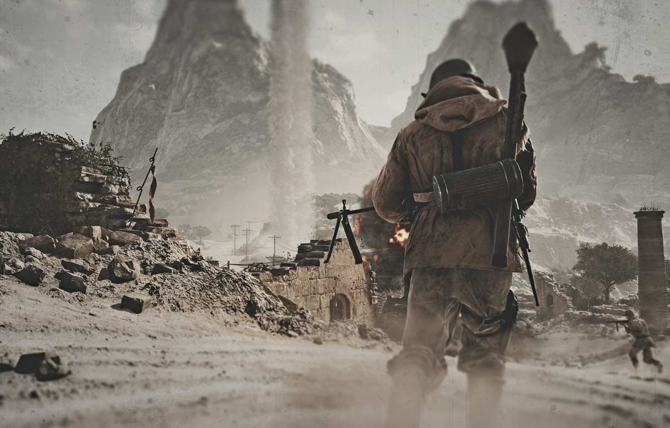 Photo wallpaper the game, Electronic Arts, the first-person shooter, Battlefield V