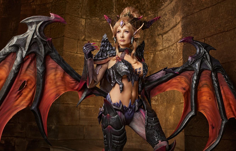 Photo wallpaper cosplay, League of Legends, Zyra, Mikhail Davydov