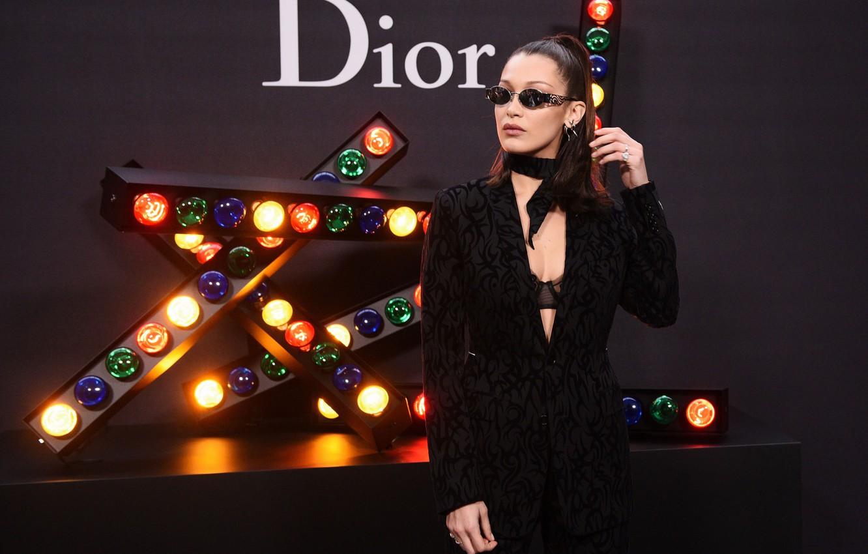 Photo wallpaper model, glasses, Dior, Bella Hadid
