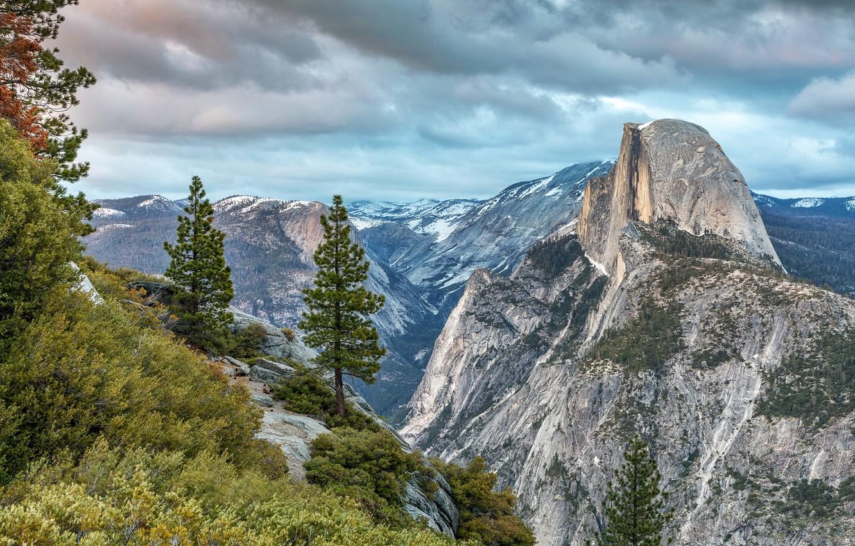 Photo wallpaper United States, California, Yosemite National Park, Curry Village