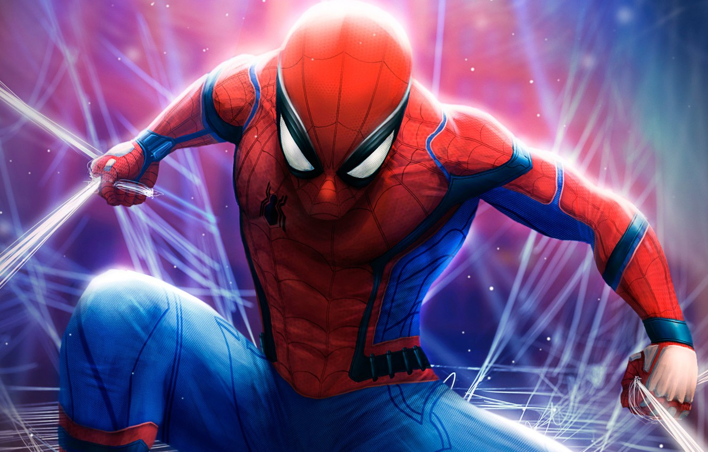 Photo wallpaper fiction, web, art, costume, comic, Spider-man, MARVEL, Spider-Man