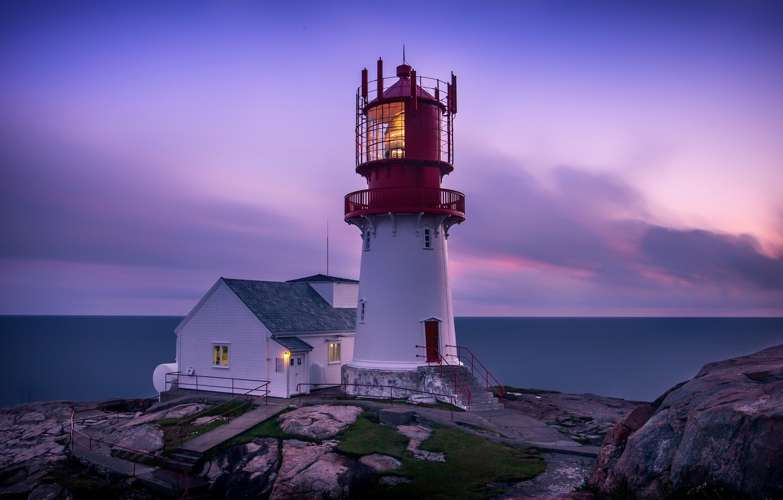Photo wallpaper sea, shore, lighthouse