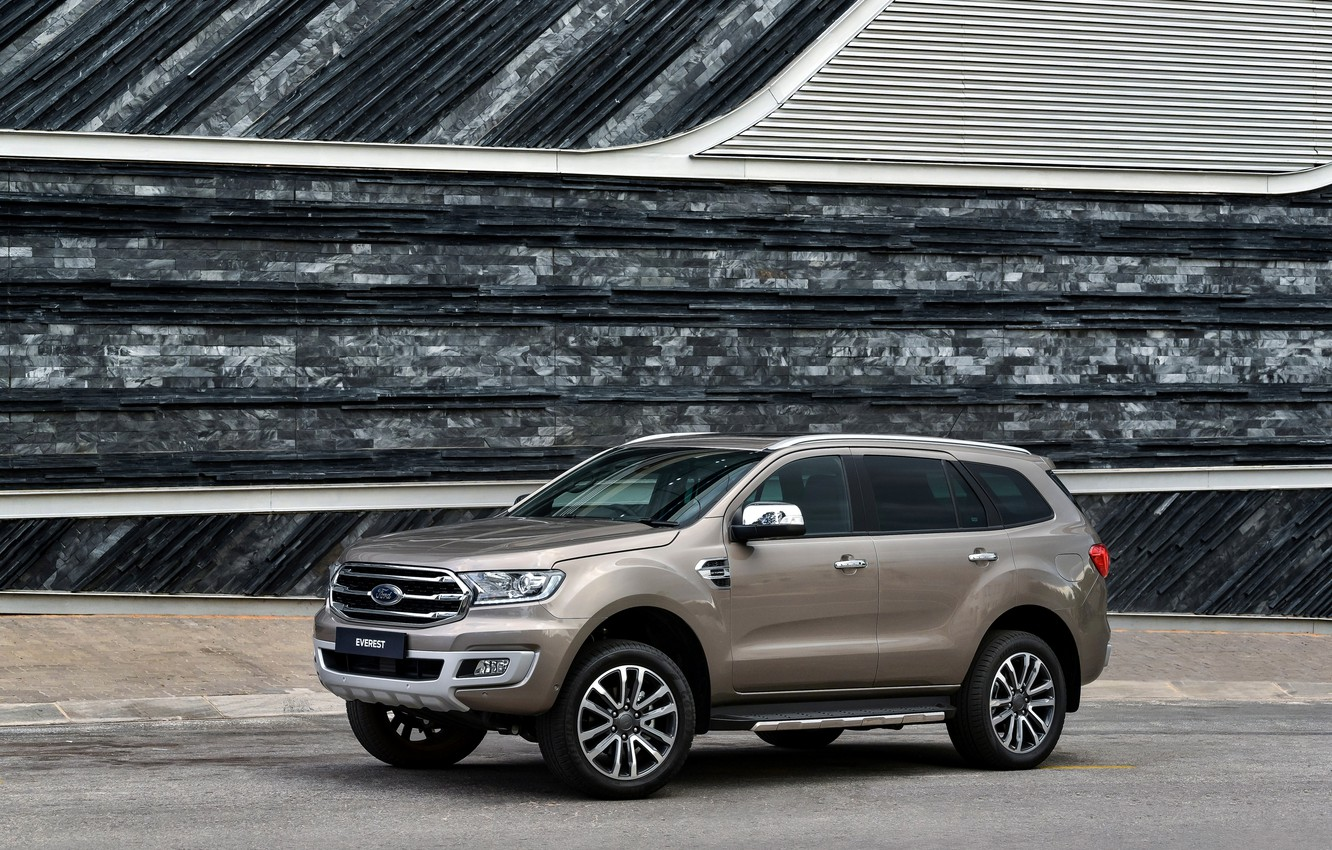 Photo wallpaper wall, Ford, the sidewalk, side, Everest, Limited, 4WD, 2019