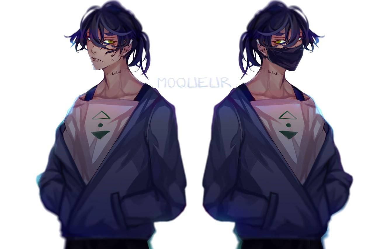 Photo wallpaper mask, guys, jackets