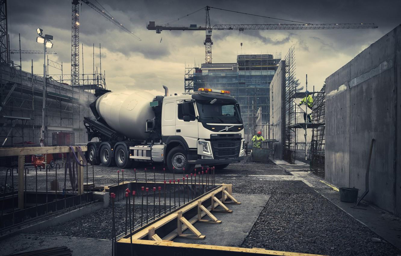 Photo wallpaper Volvo, mixer, Volvo, truck, Volvo Trucks, Volvo FM