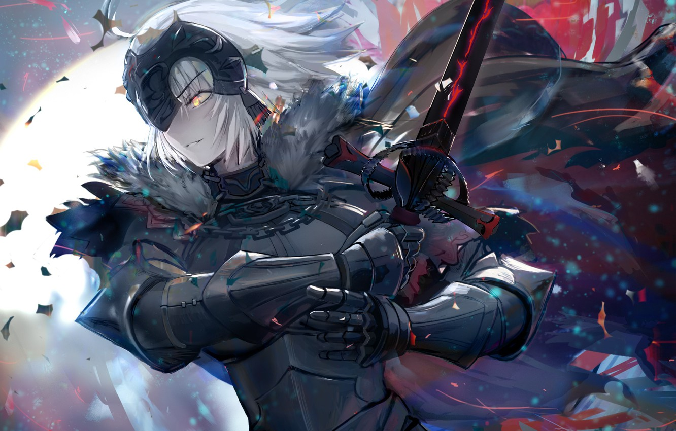 Photo wallpaper Girl, Sword, Knight, Fate / Grand Order, The destiny of a great campaign
