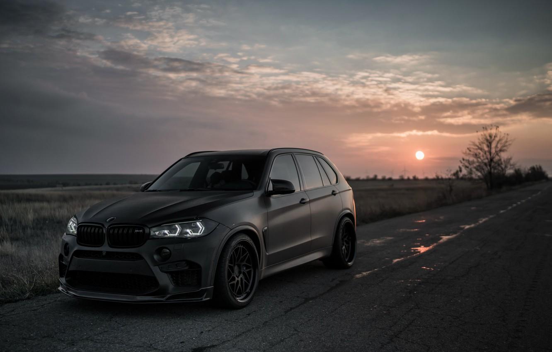 Photo wallpaper sunset, 2018, BMW X5, X5M, Z Performance