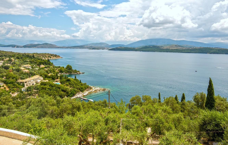 Photo wallpaper sea, sea, Greece, greece, corfu, Corfu, kerasia
