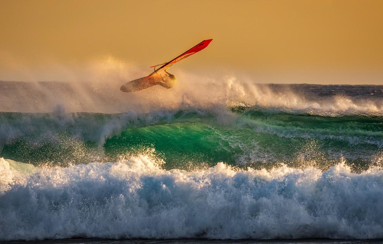Photo wallpaper The OCEAN, ELEMENT, SURF, WAVE, SAIL, STORM, SURFING