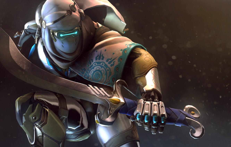 Wallpaper Sword Mask Costume Ninja Overwatch Genji