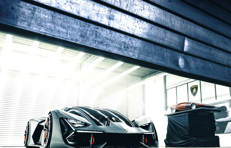 Photo wallpaper light, Lamborghini, gate, 2017, The Third Millennium Concept, scale model