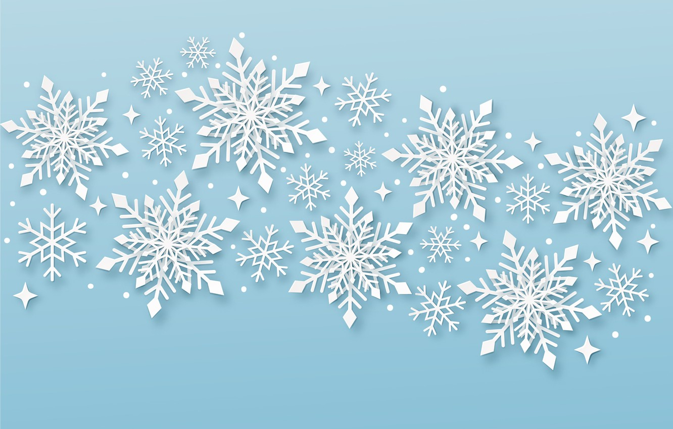 Photo wallpaper snowflakes, holiday, texture, New year