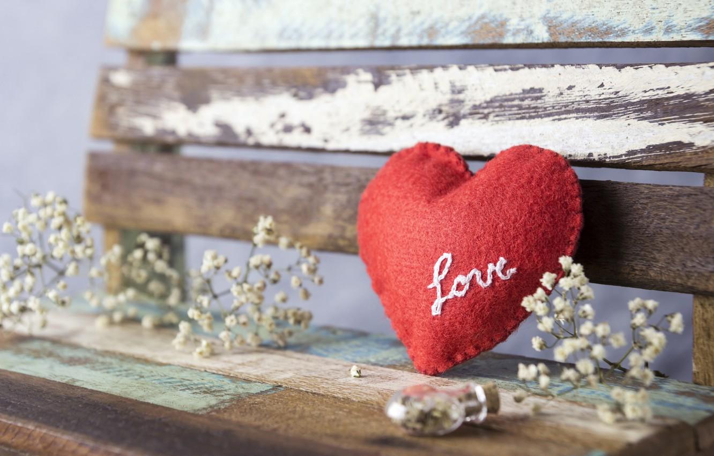 Photo wallpaper love, flowers, heart, red, love, vintage, heart, wood, flowers, beautiful, romantic