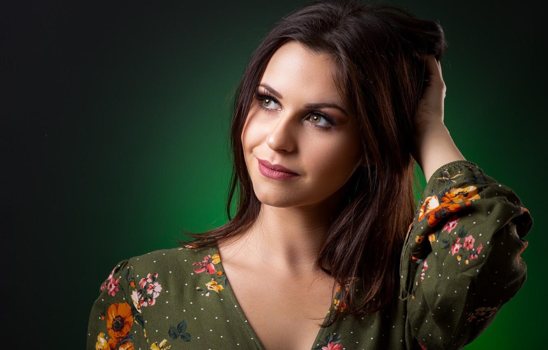 Photo wallpaper girl, pose, portrait, brown hair
