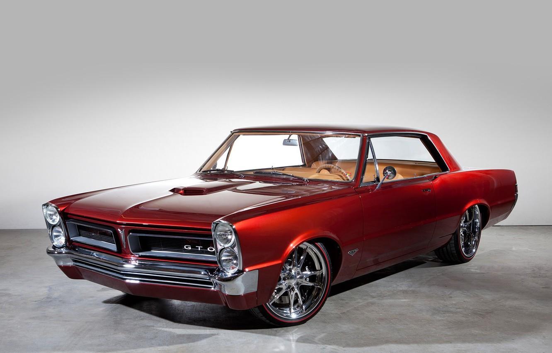 Photo wallpaper Red, Pontiac, GTO, Old