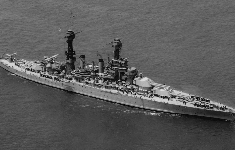 Photo wallpaper Battleship, US NAVY, US NAVY, 1928, Colorado class, 406 mm, USS West Virginia (BB-48)