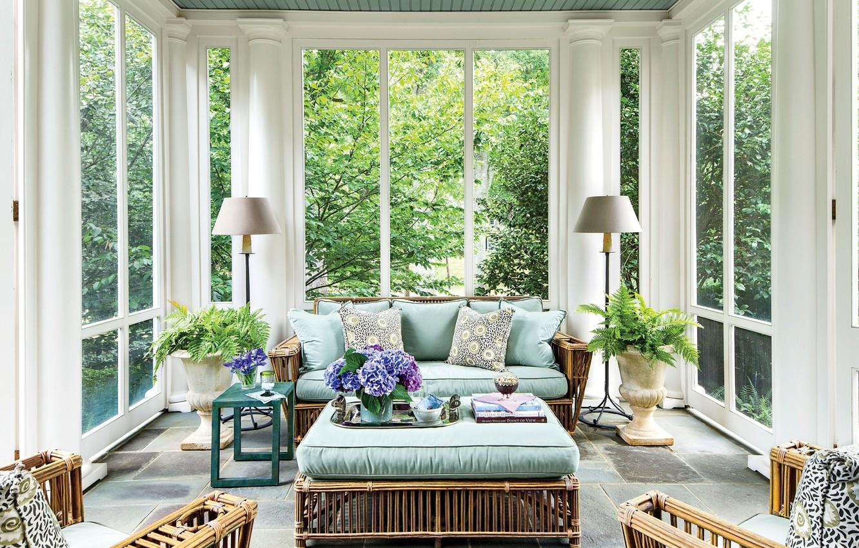 Photo wallpaper furniture, interior, veranda