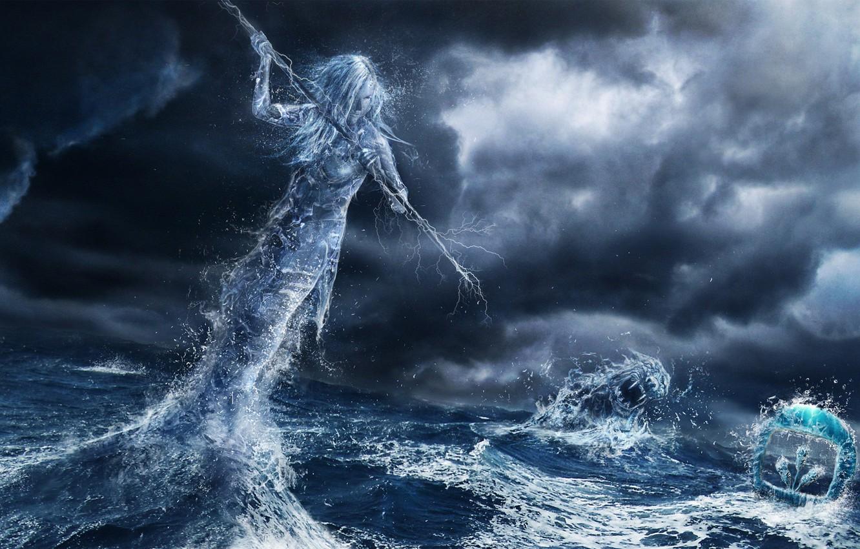 Wallpaper Water Girl Spear Images For Desktop Section Fantastika Download