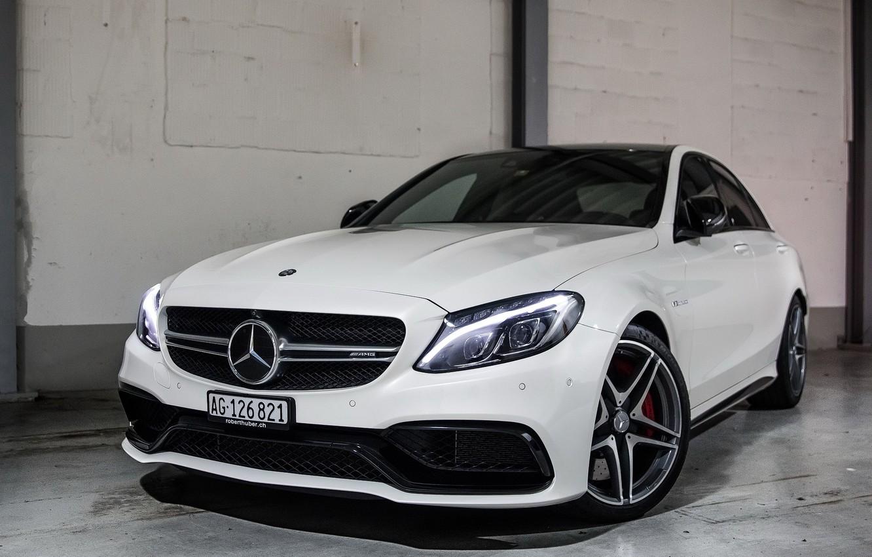 Photo wallpaper Mercedes, AMG, White, C63S